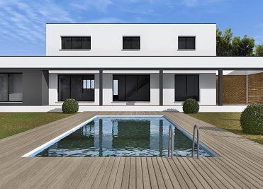 Maisons modernes interesting maison maisons de style de for Villa en bois moderne